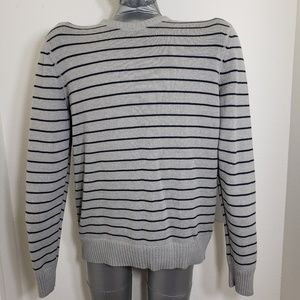 Aeropostale Large Gray Blue Sweater Pullover A0427